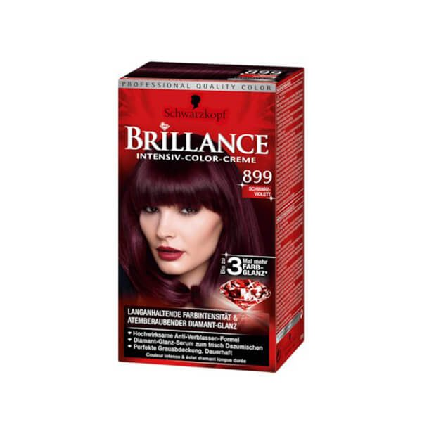 Brillance Intensiv Color Creme Coloration 899 Schwarz Violett